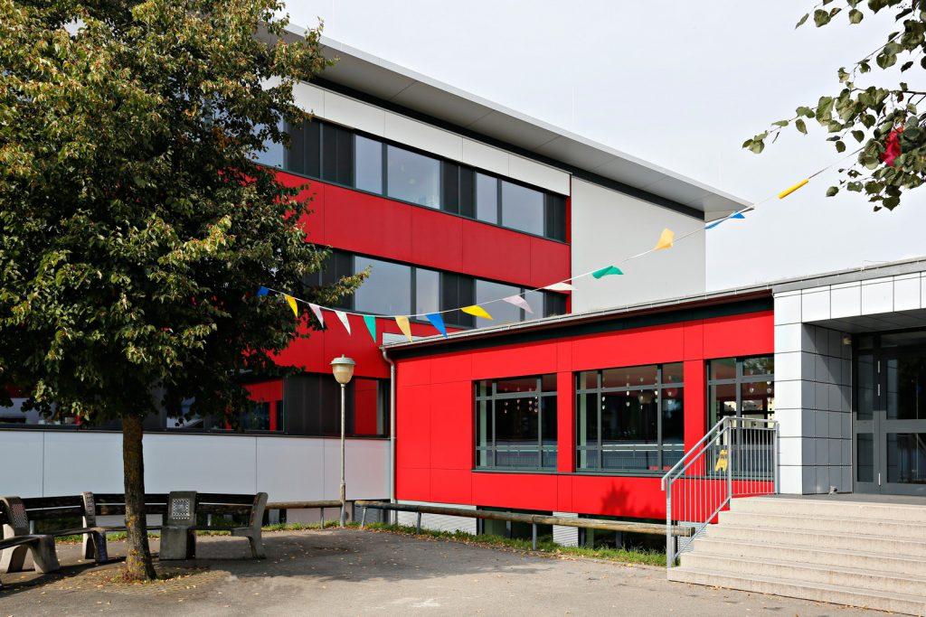 Innenhof der Schule Nord nach der Sanierung