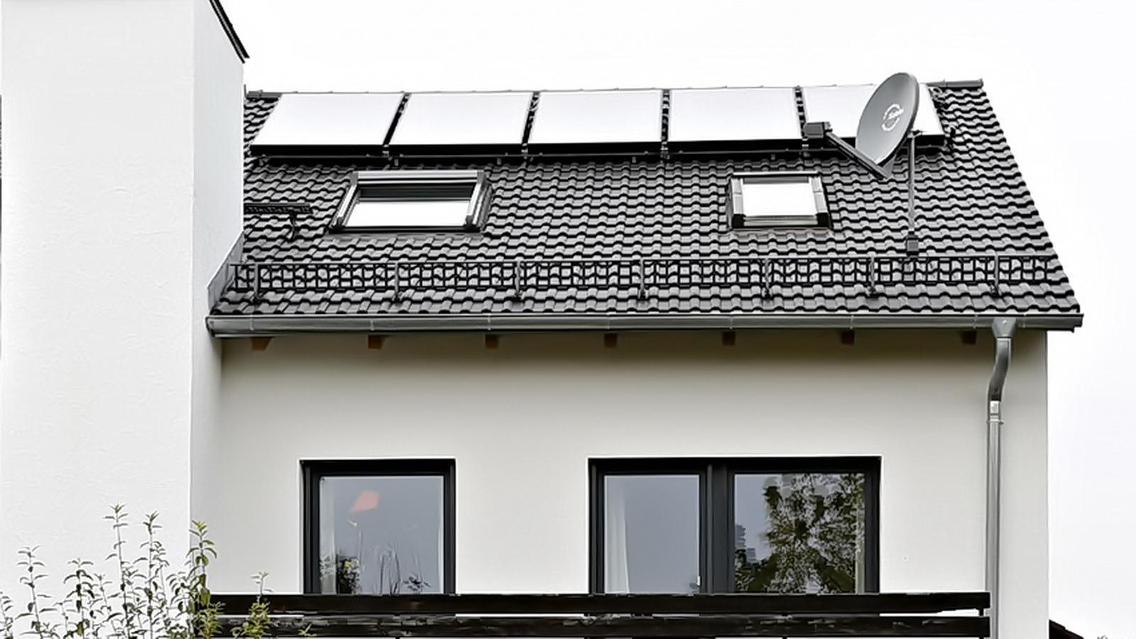 Dach mit Solarthermie