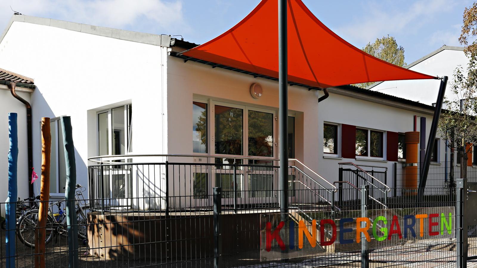 Ansicht auf den Kindergarten Fruehlingsstrasse in FFB