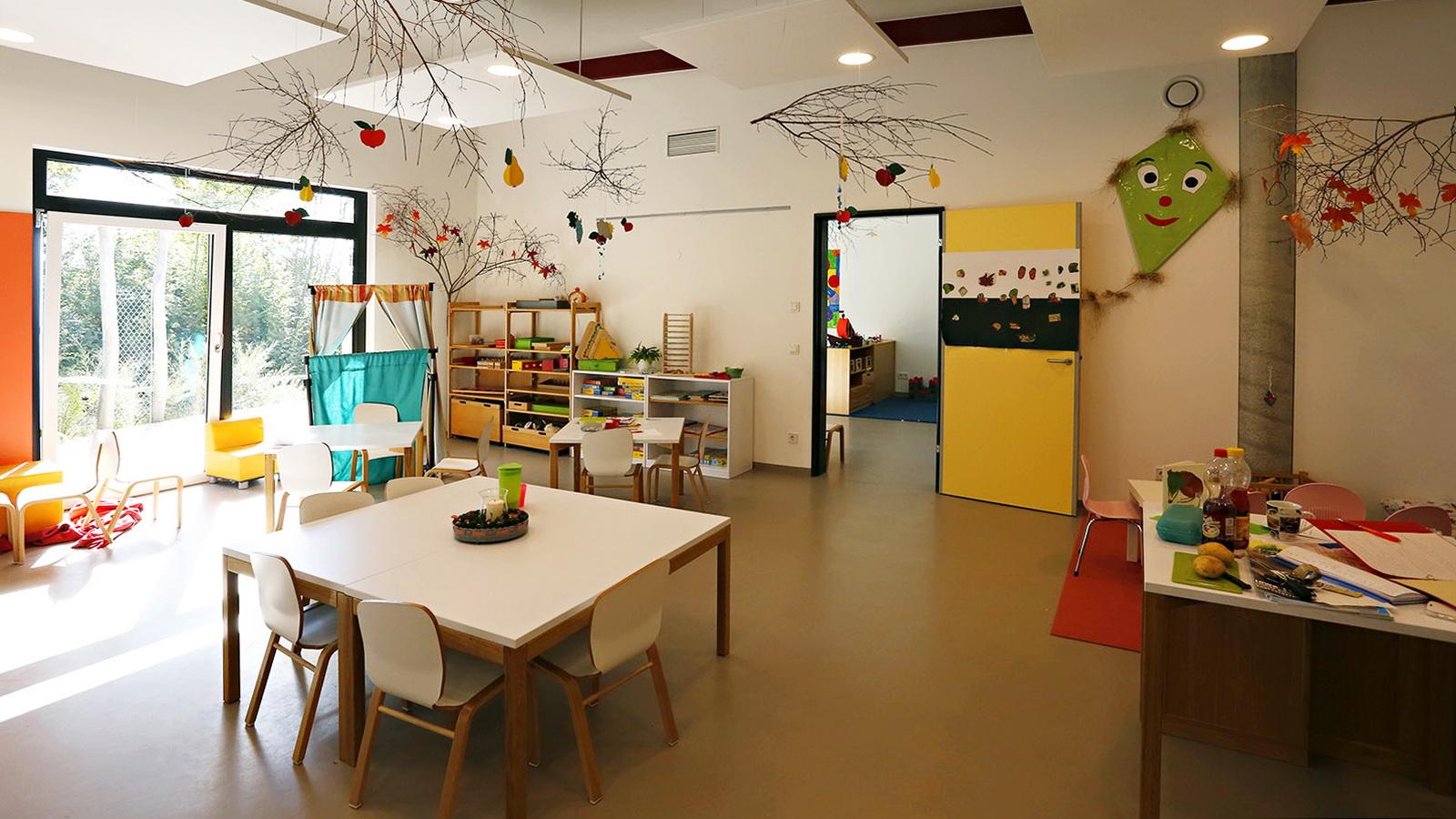 Gruppenzimmer im Kindergarten Guenzlhofen