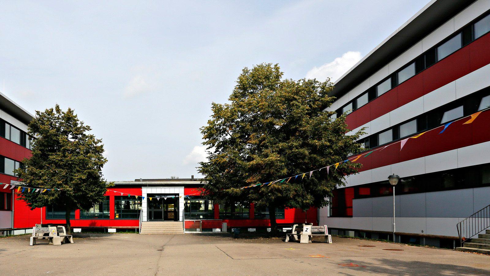 Der Innenhof der Schule Nord in FFB